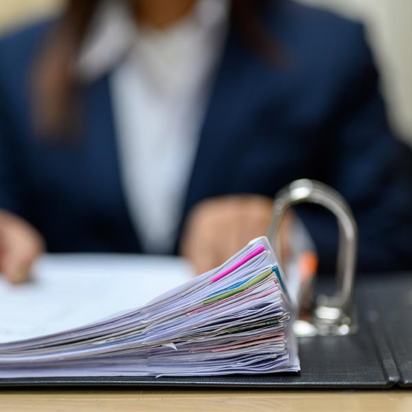 Büro Hand Ringordner Akten Papier Aktenordner